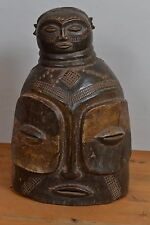 Bembe Helmet Mask double Faces Kalunga DR Congo African Mask