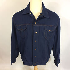 ViNtAgE Cotton Denim Style Western Ranch Cowboy Work Chore Mod Hippy CoAt JaCkEt