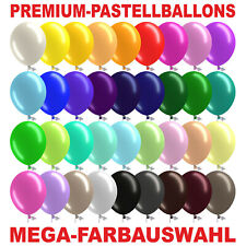 Premium Luftballons Maxi Bio Ø 33 cm GROSSE FARBAUSWAHL Stückzahl wählbar Helium