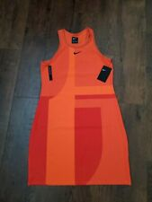 Nike Sportswear Tech Pack Knit Women's Sleeveless Dress M Orange Casual New