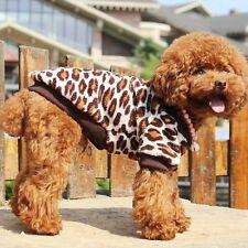 New Fashion Dog Clothes Cute Pet Dog Dress leopard Clothe Top Quality Size S-XL