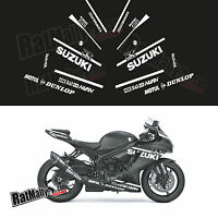 SUZUKI GSXR WINTER TEST STYLE GRAPHICS - FULL DECAL PACK - RACE TRACK STICKERS