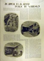 Original Old Antique Print 1900 Warings Appeal Pavilion Hotel Russell London