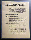 Original Germany Leaflet Dropped On USA Troops Liberated Allies