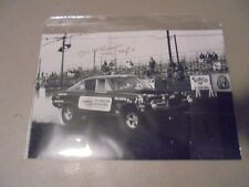 NHRA DECEASED TOM THE MONGOOSE MCEWEN AUTOGRAPHED ACTION AT LIONS DRAGWAY PHOTO.