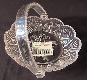 """STUDIO NOVA Holiday Bells 5 1/2"""" Basket with Handle Candy Nuts Serving Dish NEW"""