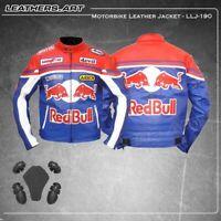Redbull Motorbike Motorcycle Rider Leather Jacket LLJ-190(US 38-48 )
