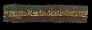 *SC* COPTIC TEXTILE WITH GREETING HUMANS & VASES 53 CM, 4TH-6TH. CENT. AD