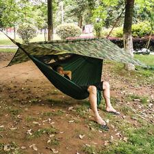 Outdoor Camping Hammock + Mosquito Net + Waterproof Sun Shelter Fly Tent Tarp