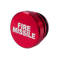 Fire Missile Button Car Cigarette Lighter Cover 12V Replacement Decor Aluminum