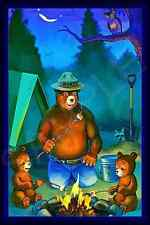 *Smokey Bear Campfire Sign* U.S. Forest Service Cabin Rustic Vintage Image