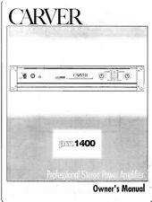 Carver PM-1400 Amplifier Owners Manual