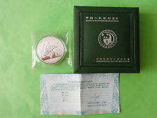 2014 China Panda 1oz .999 Silver Coin with original box & certificate (UNC)