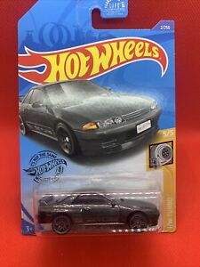 HOT WHEELS - HW TURBO - NISSAN SKYLINE GT-R (BNR32) GREY - LONG CARD USA CARD