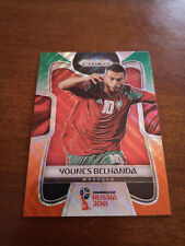 2018 Panini Prizm World Cup Younes Belhanda #256 Green and Orange Wave Morocco