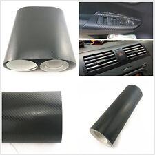 DIY 3D Black Carbon Fibre Vehicle Interior Door Panel Handle Vinyl Film Sticker