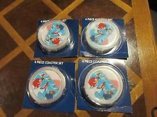 Tobaccania , Vintage ,  Coasters, 4 Piece Coaster Set , Lot of 3  / 12 Coasters