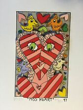 "James Rizzi: original 3D ""MISS HEART"", handsigniert, FUNNY FACES 1997 VERGRIFFEN"