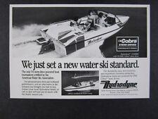 1987 Hydrodyne V6 OMC Stern Drive Ski Boat vintage print Ad