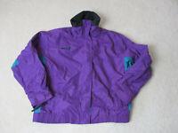 VINTAGE Columbia Jacket Womens Medium Purple Green Bugaboo Coat Ladies 90s
