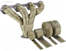 "2""x5m Titanium Temp Exhaust Heat Wrap Army Green Heater Retention 10 Ties New"