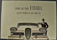 1958 Edsel Brochure Citation Pacer Corsair Ranger Wagon Original Not a Reprint