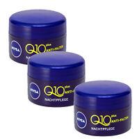 3x 5ml Nivea Q10 plus Anti Falten Straffung Nachtpflege Creme Kreatin Haut