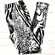 Buttery Soft ZEBRA Leopard Tiger Cheetah Leggings Tall & Curvy Animal Print TC