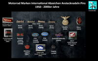 Motorrad Marken International Anstecknadeln hat pins 1950-2000er AUSSUCHEN