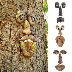 Alter Mann Wunderlicher Baum Gesicht Statuen Hugger Peeker Skulpturen Garten