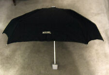 Moschino Umbrella Dark Forest Green Made in Italy Purse Size Embroidered Letter
