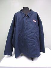 Lincoln Tech Jacket Coat Work Shop Uniform Navy Mechanic Lined Men's Sz 10XL-RG