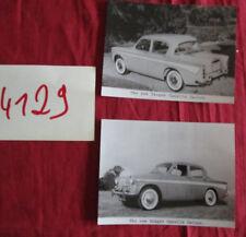 N°4129  / 2 photos d'epoque automobile Singer Gazelle saloon
