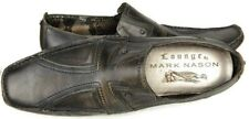 Mark Nason Mens Lounge Loafers Size 12M Leather Studded Cross Moc Toe Shoes