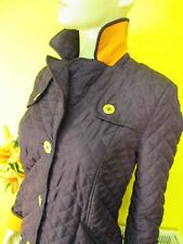 HOBBS NW3 WARM QUILTED PURPLE COAT ORANGE LINING SIZE 10  WINTER
