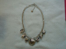 Butler & Wilson  Necklace Clustered With Crystals and Enameled Flowers