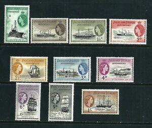 Falkland Islands 1954  SG 26-35 - 10 MLH stamps