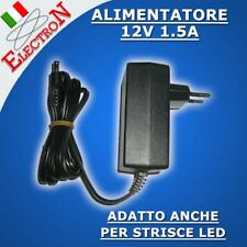 ALIMENTATORE 12V 1.5A STRISCIA LED JACK 5.5 2.5mm CCTV Trasformatore AL12-1.5