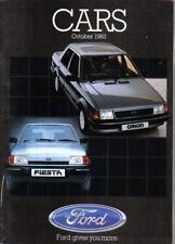 Ford Cars October 1983 Fiesta Escort Orion Sierra Capri Granada Sales Brochure