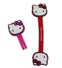 New Sanrio HELLO KITTY Earphone Hook Loop Cable Ties Wire organizer 2 pcs x Set