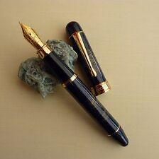 Magnifique Stylo Plume Marbré Noir Vintage Neuf. Elégance Rare