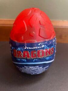 "Dreamworks Dragons Aggro 3"" Plush Red Orange Egg New"