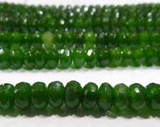 """Natural 5x8mm Faceted Emerald Abacus Loose Beads Gemstone 15"""""""