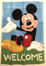 Disney Mickey Mouse Welcome Mini Window Garden Yard Flag New
