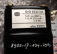 Van Der Heem Oil filled Smoothing Choke Inductor Transformer Pair Parmeko