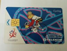 Malaysia Orang Utan Cycling Commonwealth Games Phone Card Sukom 98 Logo 电话卡
