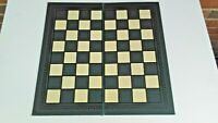 """Vintage Chess Checker BOARD FOLDING  ONLY Board 16"""" x16"""" almost & 1.3 pounds"""