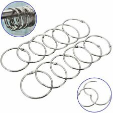 Stainless Steel Round Easy Glide Shower Curtain Bathroom Tools Hooks Rings
