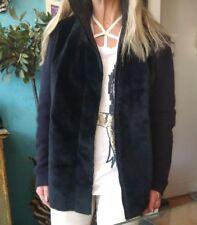 Scanlan Theodore Kangaroo For Raccoon Knit Shearling Coat Jacket Sz S