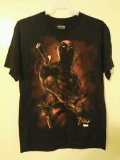New Deadpool Black T-Shirt S New Ryan Reynolds Movie Small Tee Shirt Marvel